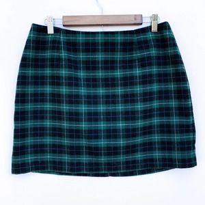 Old Navy Green Black Plaid Mini Skirt